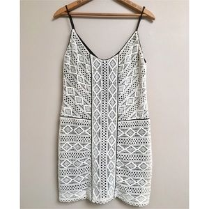Dolce Vita Dresses - Dolce Vita ivory crocheted spaghetti strap dress